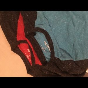 2 boys short sleeve T-shirts Large Red Blue